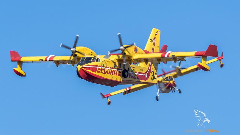 Securite Civile / Canadair CL-415 / F-ZBFX 34 F-ZBEG 39