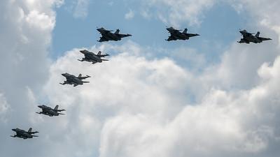 Israeli Air Force and French Air Force / Lockheed Martin F-16I Barak and Dassault Rafale C