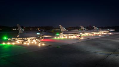German Air Force TLG74 / Eurofighter Typhoon / 30+81 & 31+25 & 30+53 & 31+11
