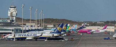 Tenerife Sur, Tower, Terminal & Apron View