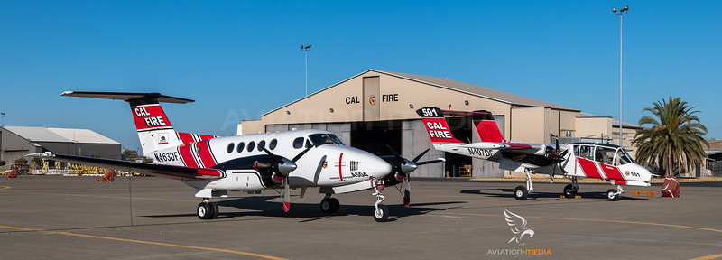 CAL Fire / Beechcraft A200CT Super King Air & North American OV-10A Bronco / N463DF & N407DF