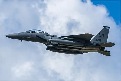 USAF 494 FS / Boeing F-15E Strike Eagle / 91-0605 LN