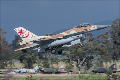 Israeli Air Force 117 Squadron / Lockheed Martin F-16C-30 Barak / 345