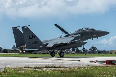 USAF 494 FS / Boeing F-15E Strike Eagle / 91-0331 LN