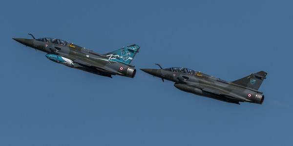 French Air Force Couteau Delta / Dassault Mirage 2000D / 624 3-IT & 681 3-AG / 75th Anniversary Livery