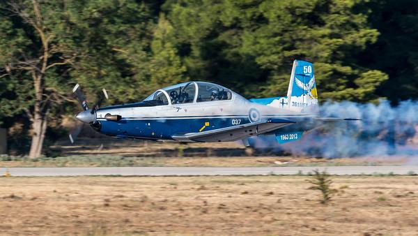 Hellenic Air Force / Beechcraft T-6 Texan II / 037 / 50th Anniversary 361 Mira Livery