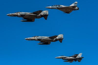HAF 332 & 338 & 330 Mira / Dassault Mirage 2000 BGM & McDonnell Douglas F-4E AUP Phantom II & Lockheed Martin F-16C-30 Fighting Falcon / 202 & ?, 01534 & 140