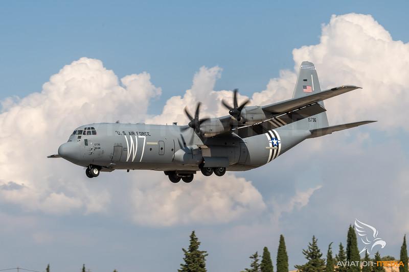 USAF 37AS / Lockheed Martin C-130J-30 Hercules / 11-5736 RS / 75th Years Invasion Stripes Livery