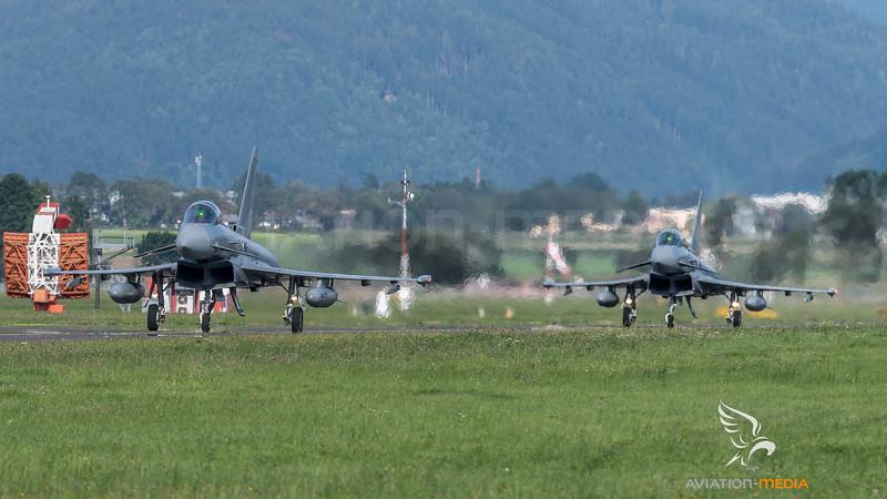 Austrian Air Force 1st Squadron / Eurofighter Typhoon / 7L-WF & 7L-WM