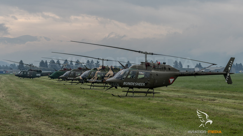 Austrian Air Force / Bell OH-58B Kiowa & Agusta Bell AB212 / 3C-OC & Others & 5D-HR