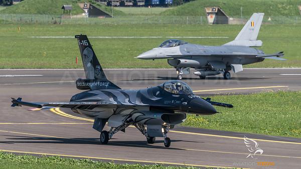 BAF 350 Squadron / Lockheed F-16A-20 MLU Fighting Falcon / FA-101 & FA-89 / Vador Livery