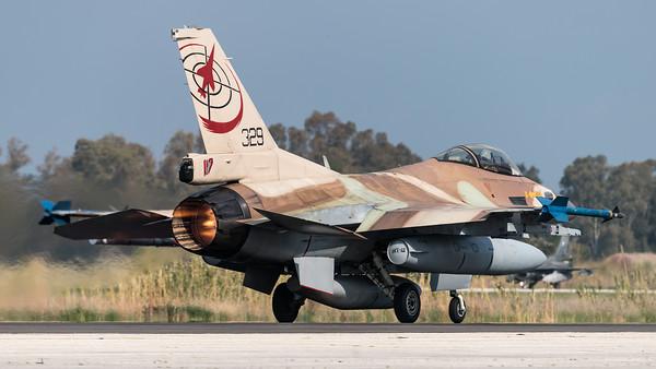 Israeli Air Force 117 Squadron / Lockheed Martin F-16C-30 Barak / 329
