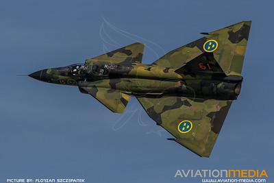 Swedish Air Force Historic Flight / Saab Sk37E Viggen / SE-DXO 61