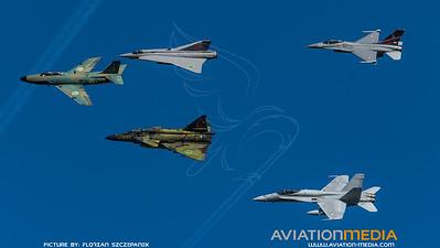 Swedish Air Force Historic Flight & Danish Air Force & Finish Air Force / Scandinavian Formation Flight