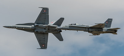 Swiss Air Force / McDonnell Douglas F/A-18C Hornet / J-5005 & J-5025