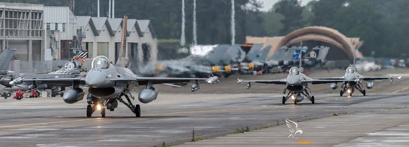 BAF 31 Squadron / Lockheed F-16A-20 MLU Fighting Falcon / FA-116 & FA-107 & FA-136 / Tigermeet 2019 Livery