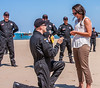 Dan Cook of Loveland made his 3000th and final parachute jump as a member of the All-Veterans Parachute team. After landing on North Avenue Beach in Chicago, he proposed to his girlfriend, Leah Angott. (Submitted by Fred Shabec)