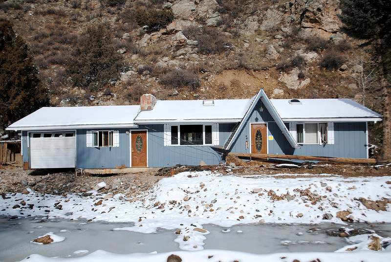 Patrick Losee's home near Glen Haven after the September flood on Sunday Nov. 24, 2013.  (Photo by Lilia Munoz/ Loveland Reporter-Herald)