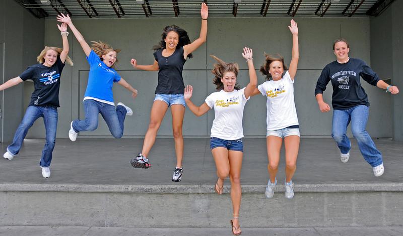 From Left Courtney Brand, Allison Weaver, Moli Keeler, Emma Howard, Katie Biedron and Kellie Eastman.