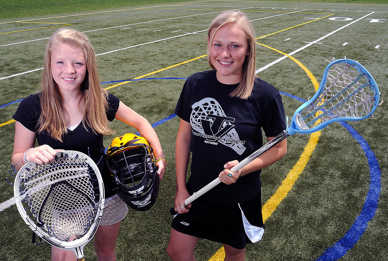 All-area lacrosse players Molly Reger, left, and Maggie MaWhinney.
