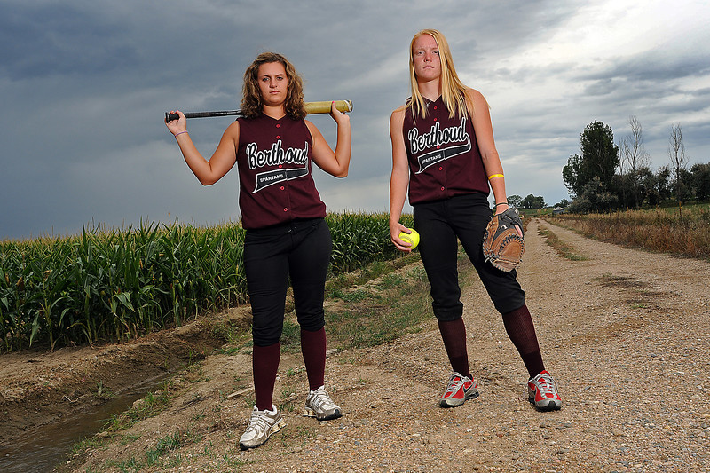 Berthoud High School junior Danielle Wikre, 16, left, and senior Amy Ekart, 17, expect to shoulder the burden of leading their team this year.