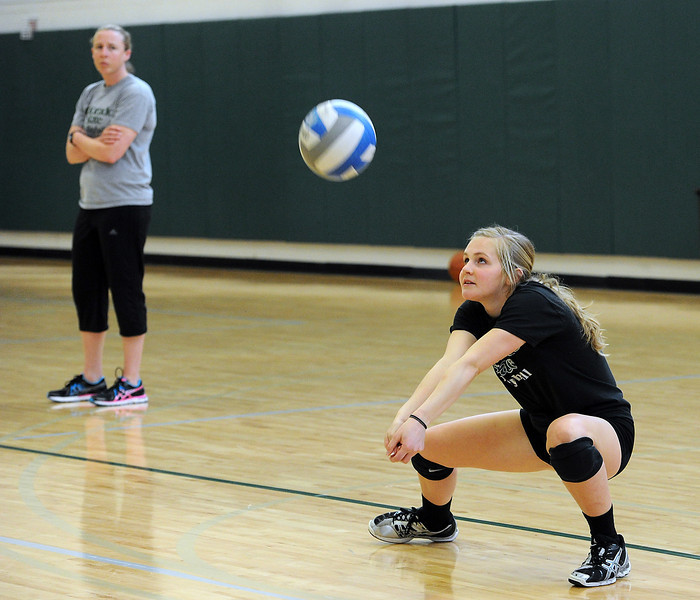 Colorado State University volleyball player Jamie Colaizzi during practice on Wednesday, April 3, 2013 in Fort Collins.