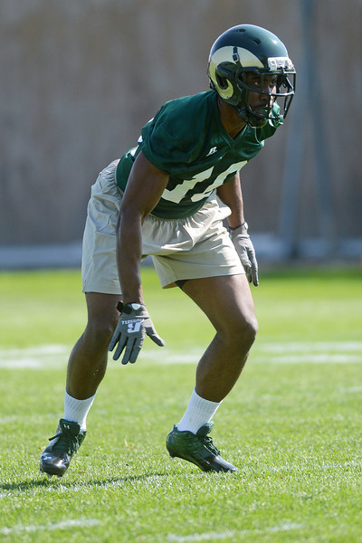 Colorado State's Trenton Matthews during a recent practice.