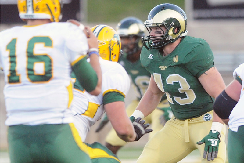 Colorado State linebacker James Skelton (43) during a game against North Dakota State on Sept. 8, 2012 at Hughes Stadium.