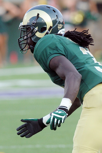 Colorado State cornerback Shaq Bell during a game against Utah State on Sept. 22, 2012 at Hughes Stadium.