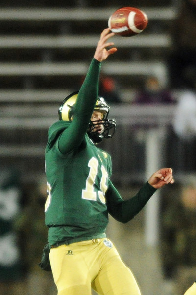 Colorado State quarterback Conner Smith throws a pass during a game against UNLV on Saturday, Nov. 10, 2012 at Hughes Stadium.
