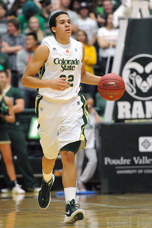 Colorado State senior Dorian Green brings the ball up in the first half of a game against Montana on Friday, Nov. 9, 2012 at Moby Arena.