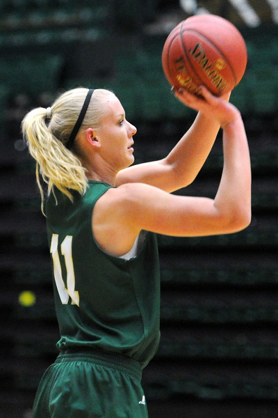 Colorado State's Meghan Heimstra during a recent practice at Moby Arena.