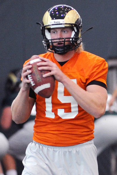 Colorado State quarterback Conner Smith during practice Oct. 16, 2012 at the team's on-campus practice facility.