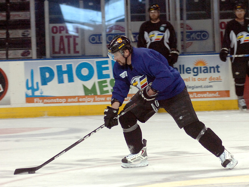Eagles forward Dan Sullivan Monday during practice.