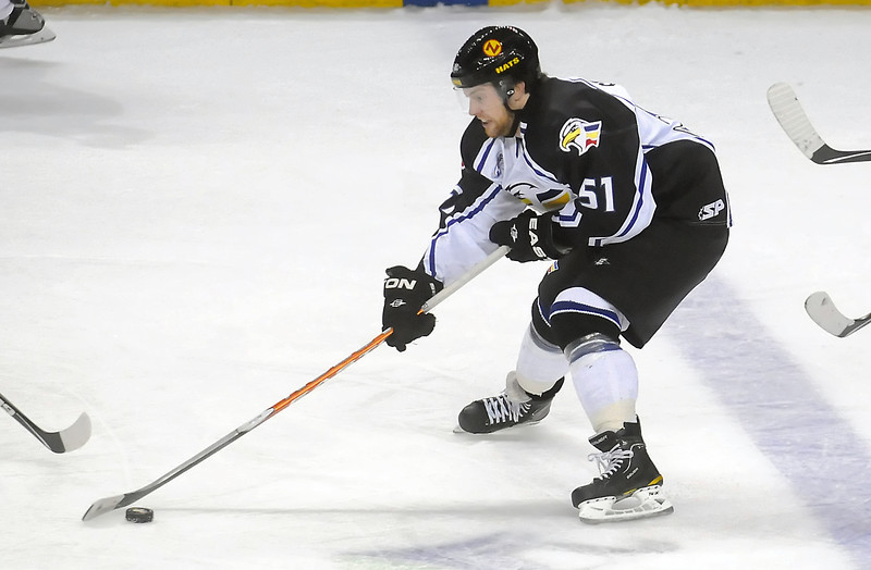 Colorado Eagles forward Dylan Stanley in the first period of a game against the Rapid City Rush on Wednesday, Dec. 29, 2010 at the Budweiser Events Center.