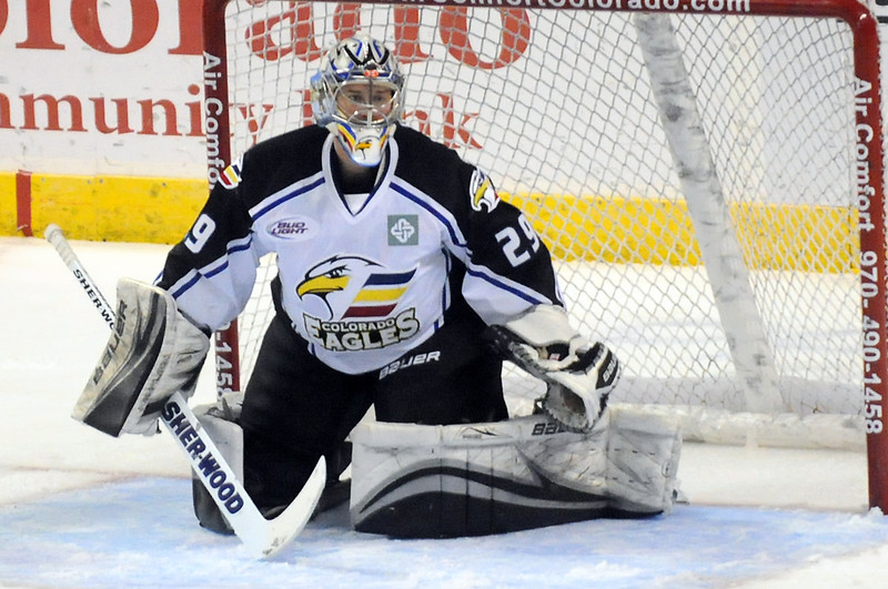 Colorado Eagles goalie Kyle Jones.