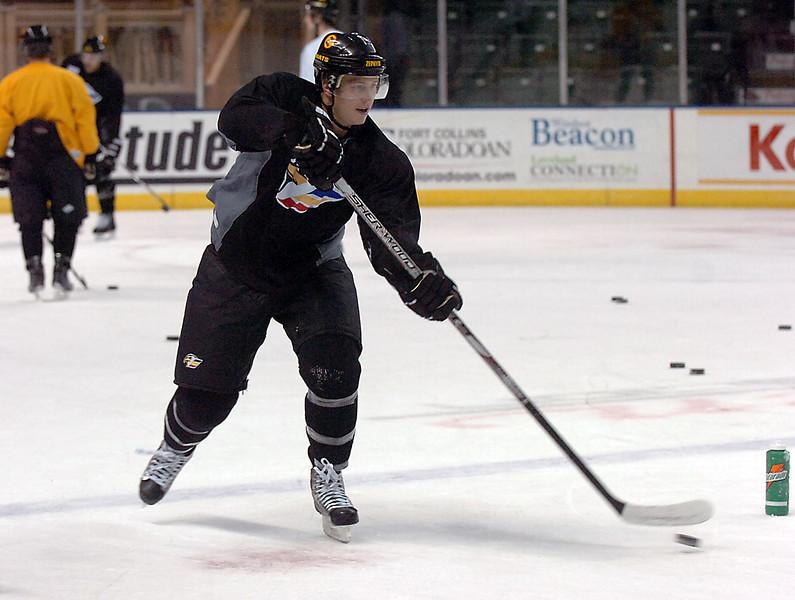 Eagles Jason Lundmark during practice on Monday, November 2, 2009.