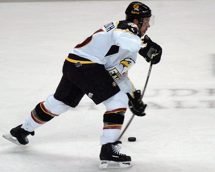 Colorado Eagles player Aaron Schneekloth during a game against the Amarillo Gorillas on Wednesday, Nov. 25, 2009 at the Budweiser Events Center.