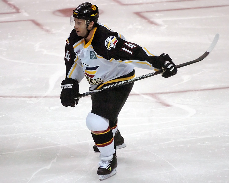 Colorado Eagles left winger Brett Lutes during a game against the Amarillo Gorillas on Wednesday, Nov. 25, 2009 at the Budweiser Events Center.