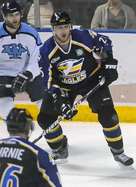 Colorado Eagles defenseman Mario Joly during a game against the Wichita Thunder on Saturday, March 6, 2010 at the Budweiser Events Center.
