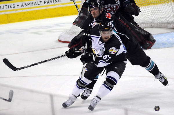 Colorado Eagles against the Bossier-Shreveport Mudbugs on Friday, May 13, 2011 at the Budweiser Events Center.