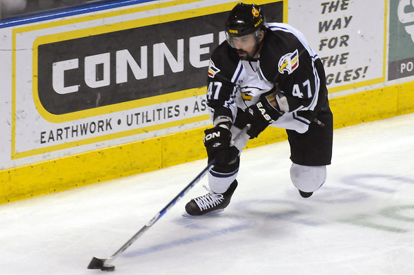Colorado Eagles against the Bossier-Shreveport Mudbugs on Friday, May 13, 2011 at the Budweiser Events Center. Second period action.