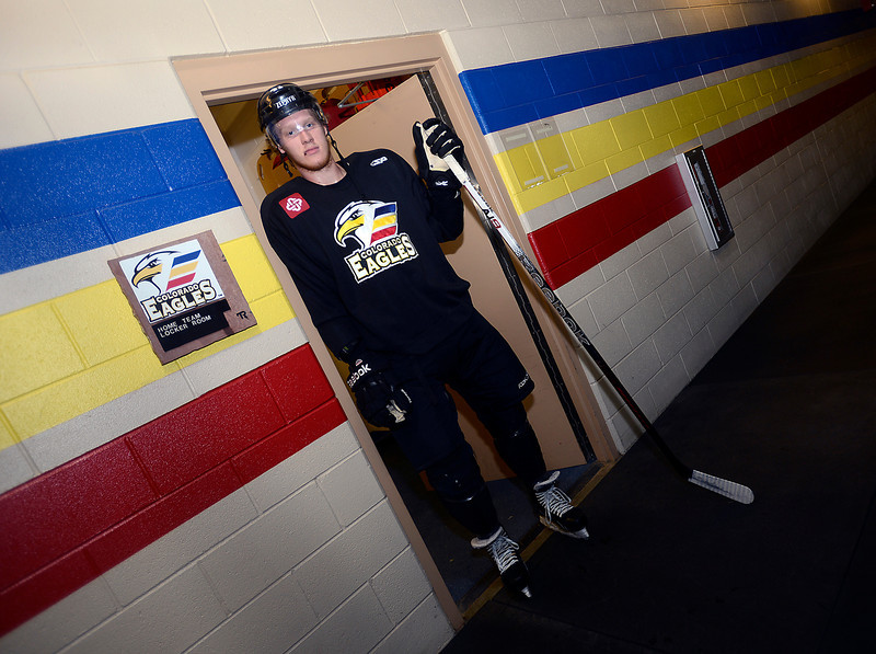 Colorado Eagles hockey player Cody Sol on Monday, October 22, 2012.