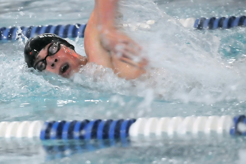 Fossil Ridge High School senior Josh Ginsborg swims in a preliminary heat of the 200-yard freestyle during the Class 5A State Swimming and Diving Championships on Friday, May 20, 2011 at the Edora Pool Ice Center in Fort Collins, Colo.