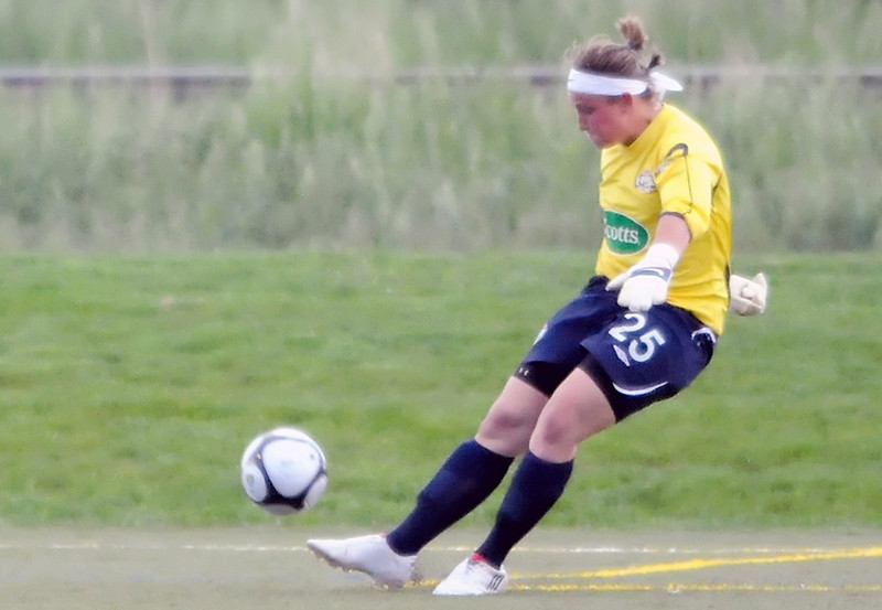 Colorado Force goalie Lauren Robertson during a game against the Seattle Sounders on Friday, June 4, 2010 at the Loveland Sports Park.
