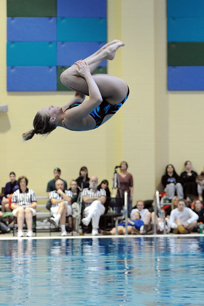 Thompson Valley High School junior Erin Chavet competes in the finals of the Class 4A State Diving Championships on Saturday, Feb. 11, 2012 at Veterans Memorial Aquatics Center in Thornton.