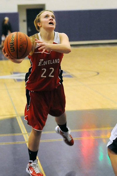Loveland High School's Addie Coldiron during a game against Mountain View on Tuesday, Dec. 21, 2010 at MVHS.