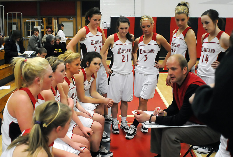 Loveland High School's girls basketball team during a game against Horizon on Tuesday, Feb. 9, 2010 at LHS.