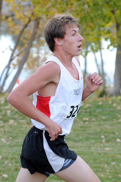 Loveland High School sophomore Dylan Dunham competes in the Class 5A Region 4 Championships on Friday, Oct. 19, 2012 at North Lake Park.