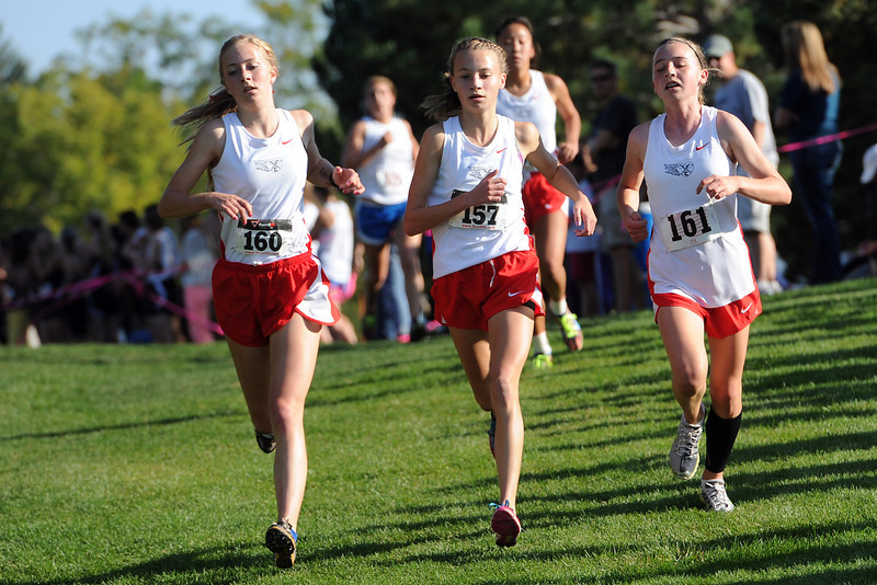 Loveland High School runners during the Sweetheart Invitational on Friday, Sept. 28, 2012 at North Lake Park.